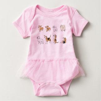 Body Para Bebê Senhora louca pequena do cão dos cães engraçados