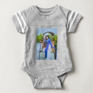 Body Para Bebê Senhora no azul