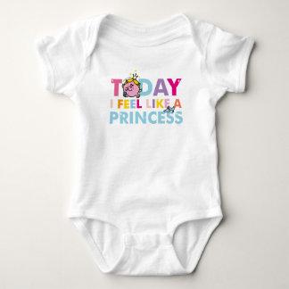 Body Para Bebê Senhorita pequena princesa | que eu sinto como uma