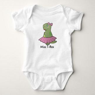 Body Para Bebê Senhorita T-Rex Bodysuit do dinossauro do bebé