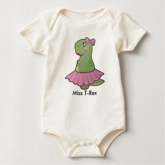 Body Para Bebê Senhorita T-Rex Orgânico Bodysuit do dinossauro do