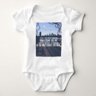Body Para Bebê Ser forte é a única escolha