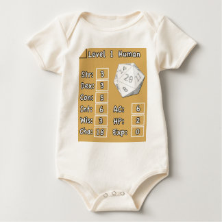 Body Para Bebê Ser humano do nível 1