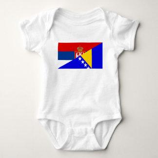Body Para Bebê serbia Bósnia - símbolo do país da bandeira de