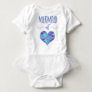 Body Para Bebê Sereia bonito na saia do tutu do Bodysuit do bebê