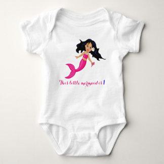 Body Para Bebê Sereia do rosa de bebê