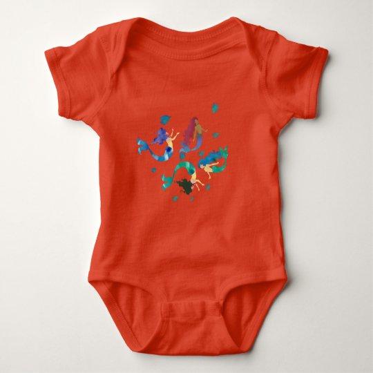 Body Para Bebê Sereias