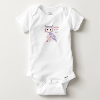 Body Para Bebê Série do corpo do bebê da coruja