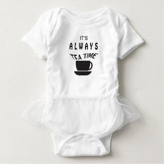 Body Para Bebê Seu sempre tempo do chá