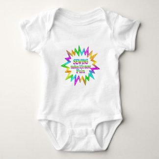 Body Para Bebê Sewing mais divertimento