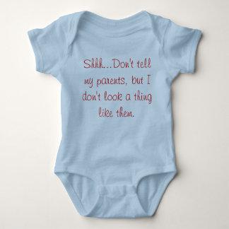 Body Para Bebê Shhhh….não diga meus pais….