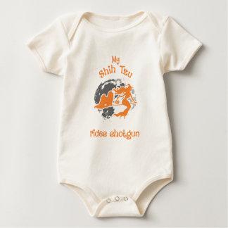 Body Para Bebê Shih Tzu monta o traje do Dia das Bruxas da