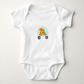 Body Para Bebê Sie do bebê um dos peixes 2,0