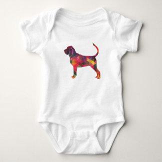 Body Para Bebê Silhueta colorida do teste padrão de Geo do
