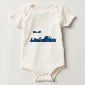 Body Para Bebê Silhueta da skyline de Atlanta