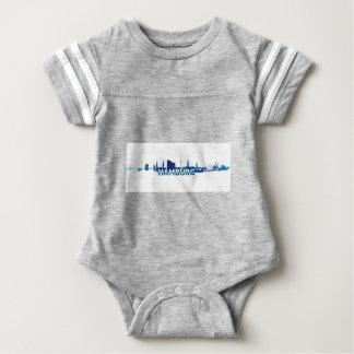 Body Para Bebê Silhueta da skyline de Hamburgo
