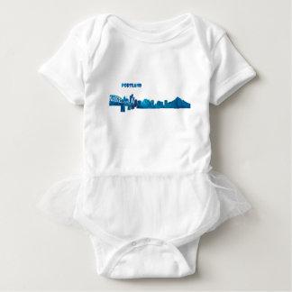 Body Para Bebê Silhueta da skyline de Portland
