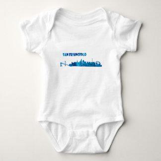 Body Para Bebê Silhueta da skyline de San Francisco