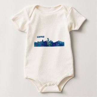 Body Para Bebê Silhueta da skyline de Seattle
