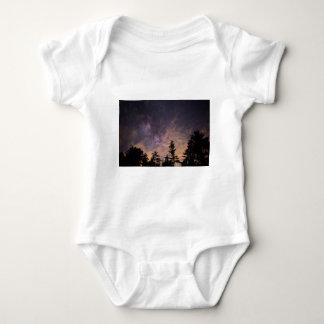 Body Para Bebê Silhueta das árvores na noite