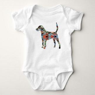 Body Para Bebê Silhueta geométrica do teste padrão do cão de cão