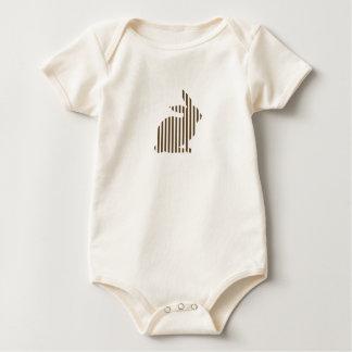 Body Para Bebê Silhueta listrada do coelho