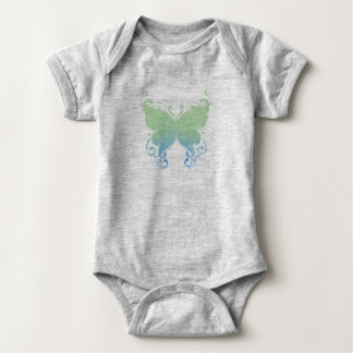 Body Para Bebê Silhueta Pastel da borboleta - Bodysuit do bebê