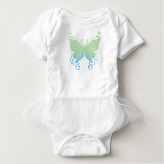 Body Para Bebê Silhueta Pastel da borboleta - Bodysuit do tutu do