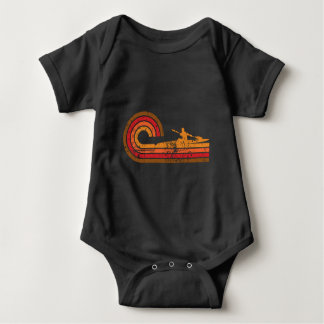 Body Para Bebê Silhueta retro do Kayaker do estilo que Kayaking