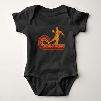Body Para Bebê Silhueta retro Dodgeball do jogador de Dodgeball