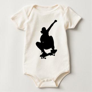 Body Para Bebê Silhueta Skateboarding do truque