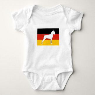 Body Para Bebê silo do pugilista no branco da bandeira