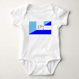 Body Para Bebê símbolo da bandeira de guatemala honduras meio