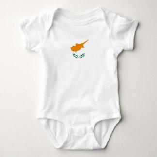 Body Para Bebê Símbolo da bandeira de país de Chipre por muito
