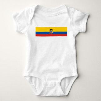 Body Para Bebê Símbolo da bandeira de país de Equador por muito