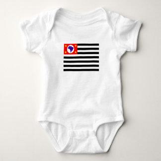 Body Para Bebê Símbolo de Brasil da bandeira da cidade de Sao
