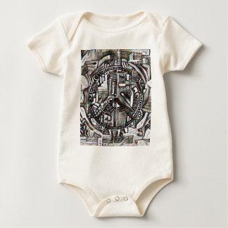 Body Para Bebê Símbolo de paz abstrato