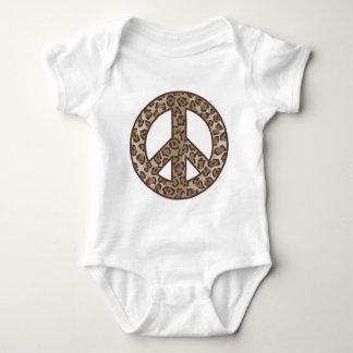 Body Para Bebê Símbolo de paz do leopardo