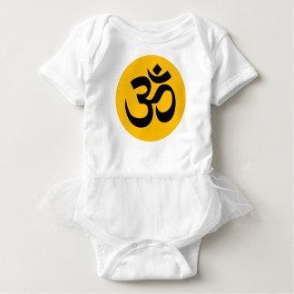Body Para Bebê Símbolo do OM, círculo preto com ouro