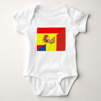 Body Para Bebê símbolo do país da bandeira de andorra da espanha
