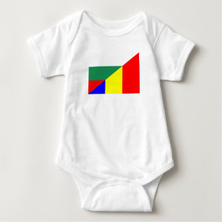 Body Para Bebê símbolo do país da bandeira de romania Bulgária
