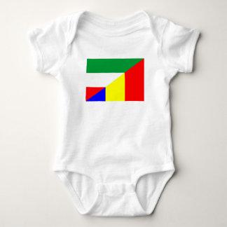 Body Para Bebê símbolo do país da bandeira de romania Hungria