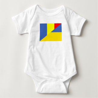Body Para Bebê símbolo do país da bandeira de romania Ucrânia