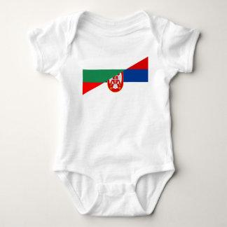 Body Para Bebê símbolo do país da bandeira de serbia Bulgária