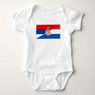 Body Para Bebê símbolo do país da bandeira de serbia croatia meio