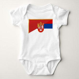 Body Para Bebê símbolo do país da bandeira de serbia Montenegro