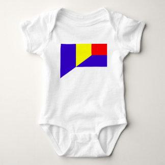 Body Para Bebê símbolo do país da bandeira de serbia romania meio