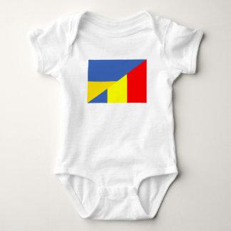 Body Para Bebê símbolo do país da bandeira de Ucrânia romania