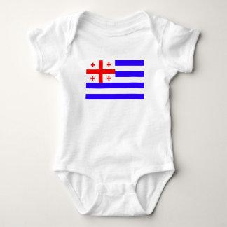 Body Para Bebê Símbolo Geórgia da bandeira da república de Ajaria