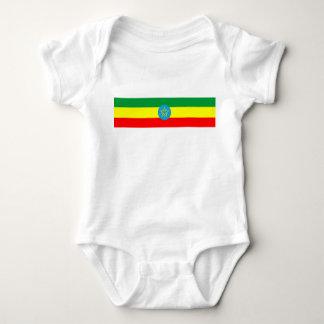 Body Para Bebê símbolo longo da bandeira de país de Etiópia